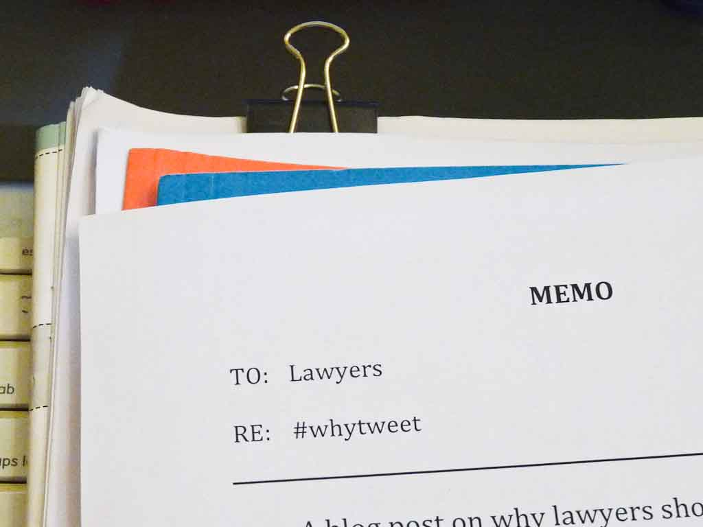 Image Of A Partial Memo To Lawyers On Why They Should Tweet