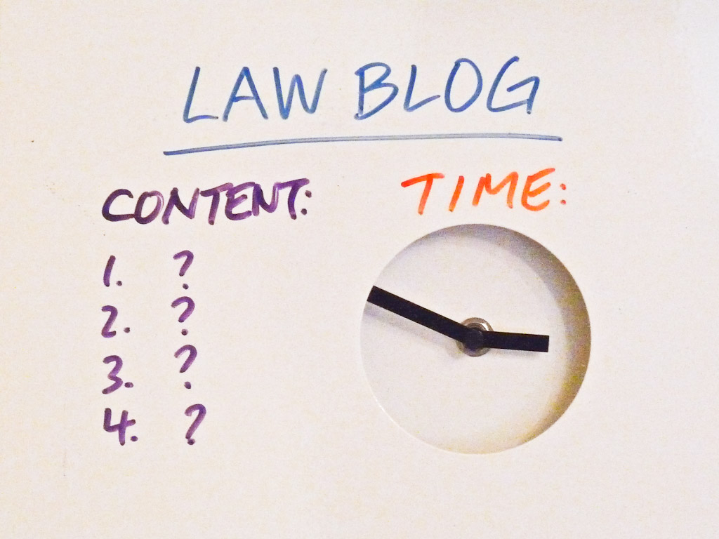 Image With The Words Law Blog, Content And Time