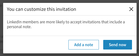 LinkedIn Invitation Personal Note
